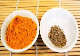 Turmeric with a little black pepper for better absorptiion